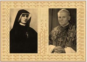 Jan Paweł II i siostra Faustyna